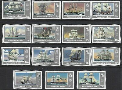 ASCENSION ISLAND 1986 Royal Navy Ships Complete Set of 15 to £2 MNH