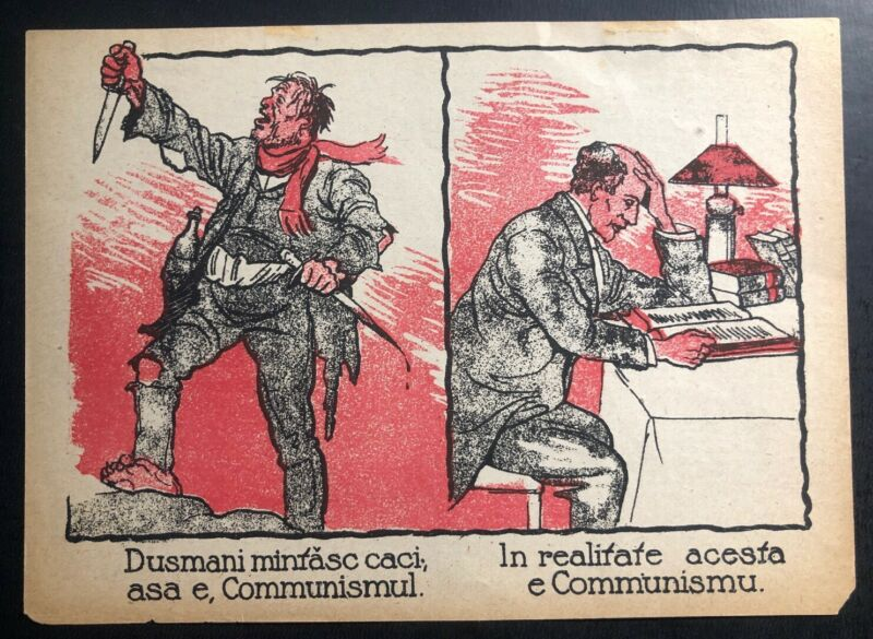 Original Germany WW1 Leaflet Drooped On Romania Pro Communist Enemy Liars