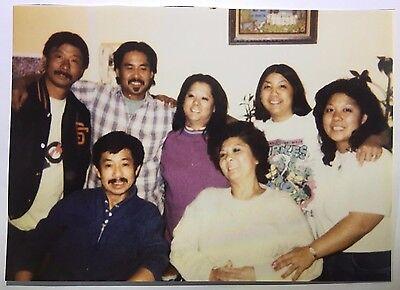 Vintage 90s PHOTO Asian Family Posed Together One Woman Has Ninja Turtle T Shirt](Ninja Turtle Family)