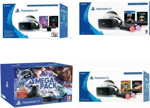 Sony PlayStation PS4 VR Virtual Reality Headset Bundles BRAND NEW
