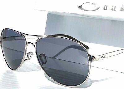 Oakley Caveat Sunglasses OO4054-02 Polished Chrome Frame W/ Grey Gradient Lens Chrome Womens Sunglasses