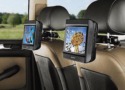 Nextbase Click 9 Lite Duo Deluxe Tragbarer DVD-Player mit Fahrzeug-Holmhalterung