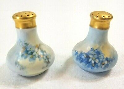 Blue and White Vintage Handpainted Ceramic by Chase Beer Stein Salt and Pepper Shakers