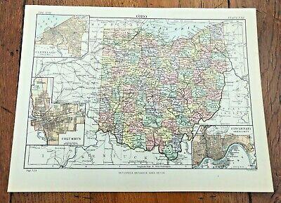 circa 1880s map of ohio !  ( adam & charles black )