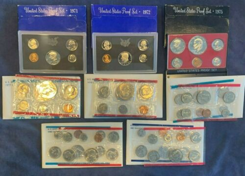 US Mint Uncirculated Coin and Proof Set variety Lot - Free Shipping USA