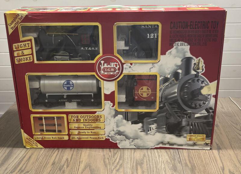 New In Box! LGB G SCALE Santa Fe Freight Train Starter Set #72423 Engine, Track