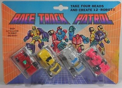 TRANSFORMERS VTG 80's MICROMASTERS METAMORPHS RACE TRACK PATROL ROBOTS SEALED