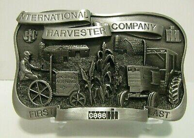 Case IH 1906 McCormick Auto Mower & 50 Farmall Tractor First Last Belt Buckle