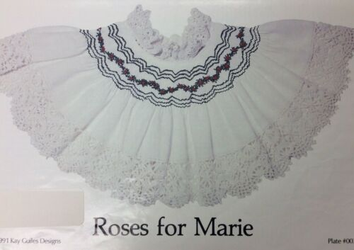 KAY GUILES SMOCKING PLATE #003- ROSES FOR MARIE