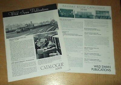 2 x Wild Swan Book transport book catalogues 2001, 2006