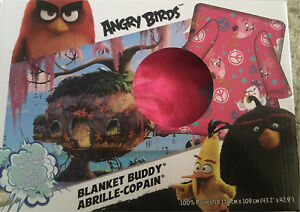 Angry Birds Fleece Blanket with Sleeves New in Box Pink