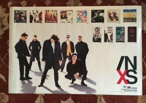INXS  On ATLANTIC Records  rare original promotional poster  MICHAEL HUTCHENCE