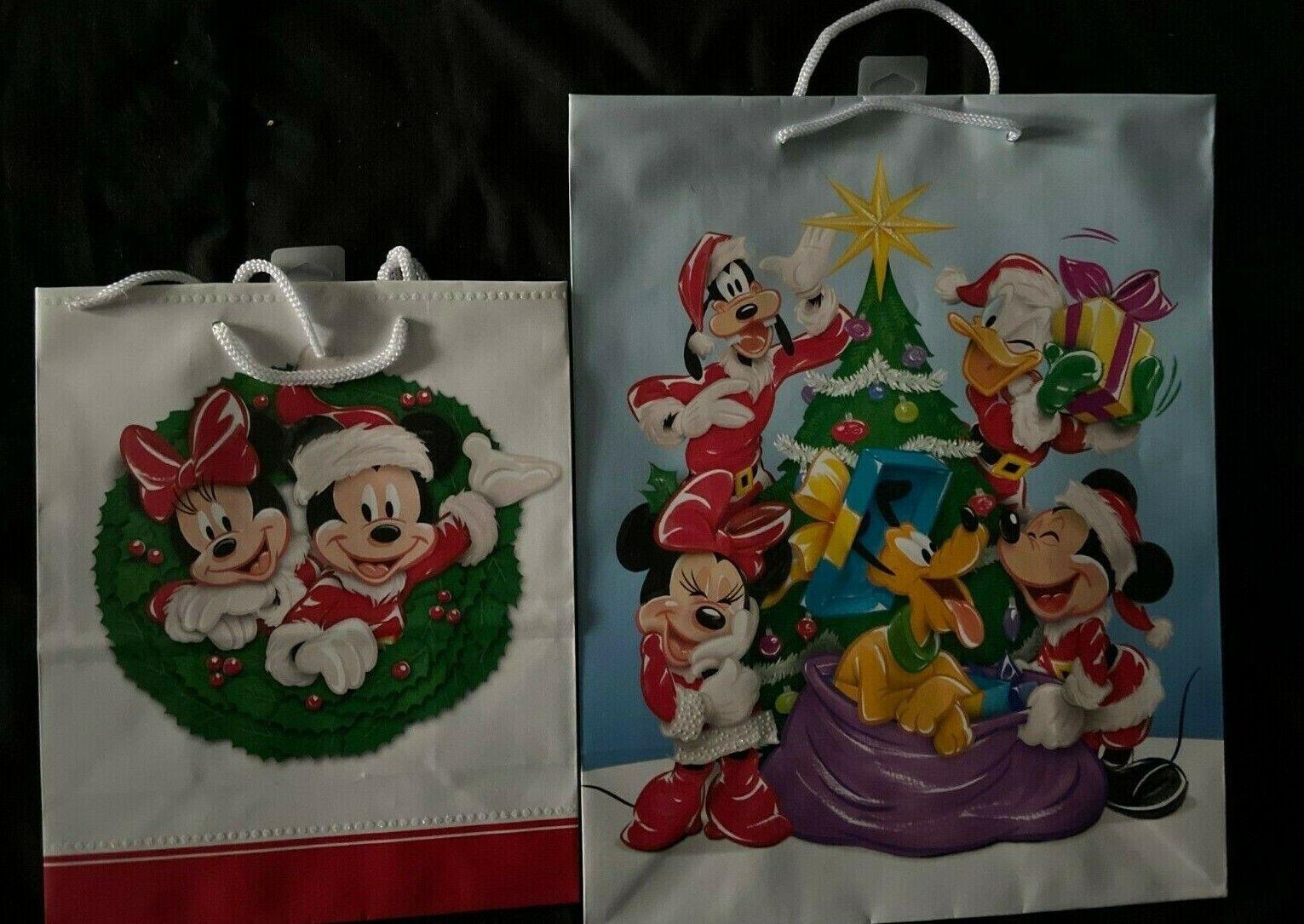 Disney Mickey & Minnie Mouse Christmas Hallmark Paper Gift B