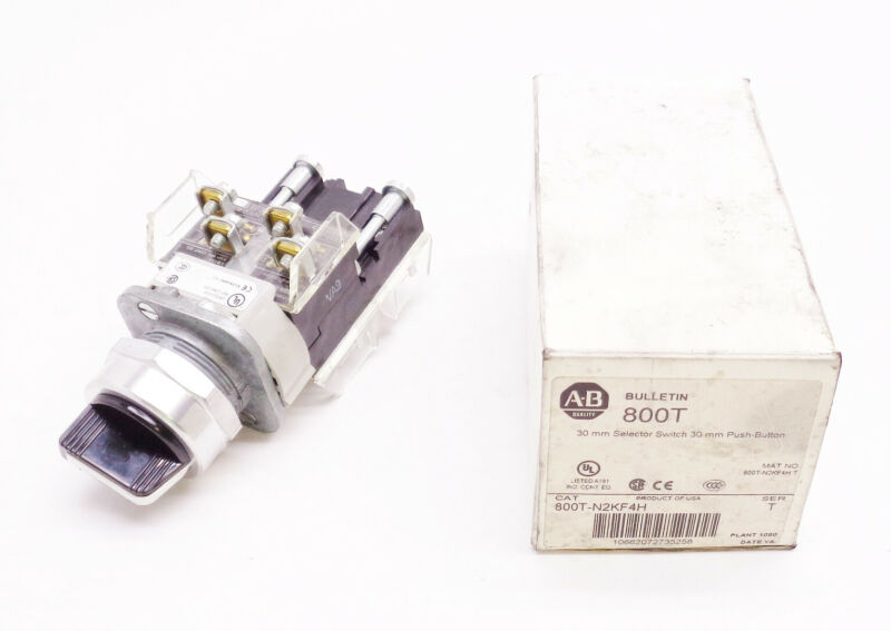 NEW ALLEN BRADLEY 800T-N2KF4H SER T 30MM SELECTOR SWITCH 30MM PUSH BUTTON