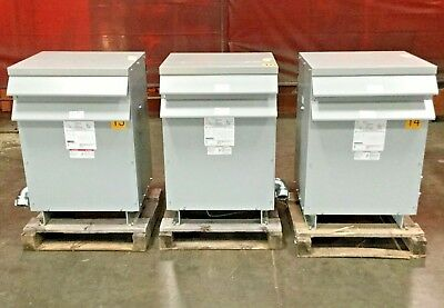 Eaton Dry Type Distribution Transformer V48m28t4516 3 Phase 45 Kva 60 Hz