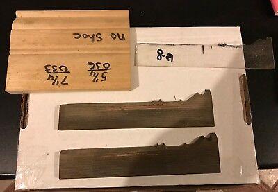 Molding Weinig Schmidt Wkw Corrugated Knives Shaper Moulder Template Baseboard