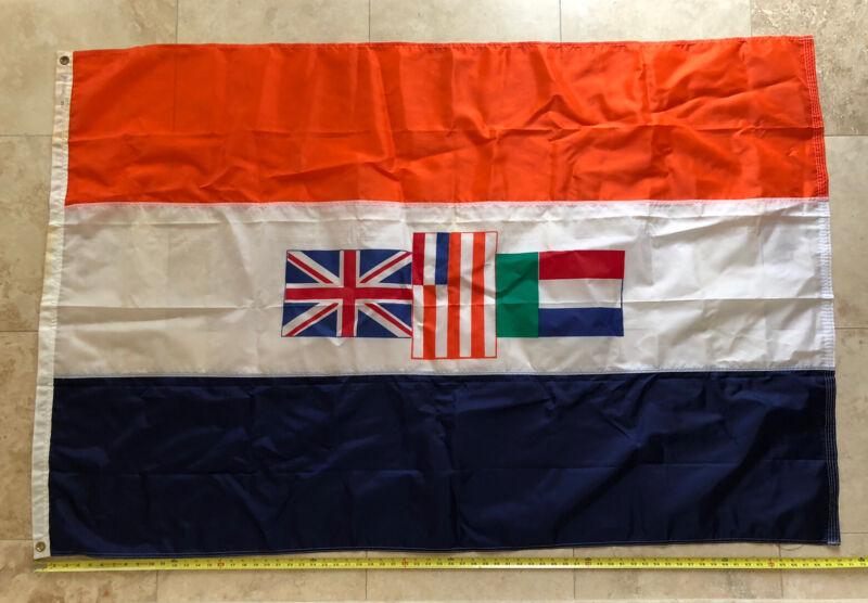 Vintage Union Republic SOUTH AFRICA Flag Nautical Merchant boat ship 4x6 ft RARE