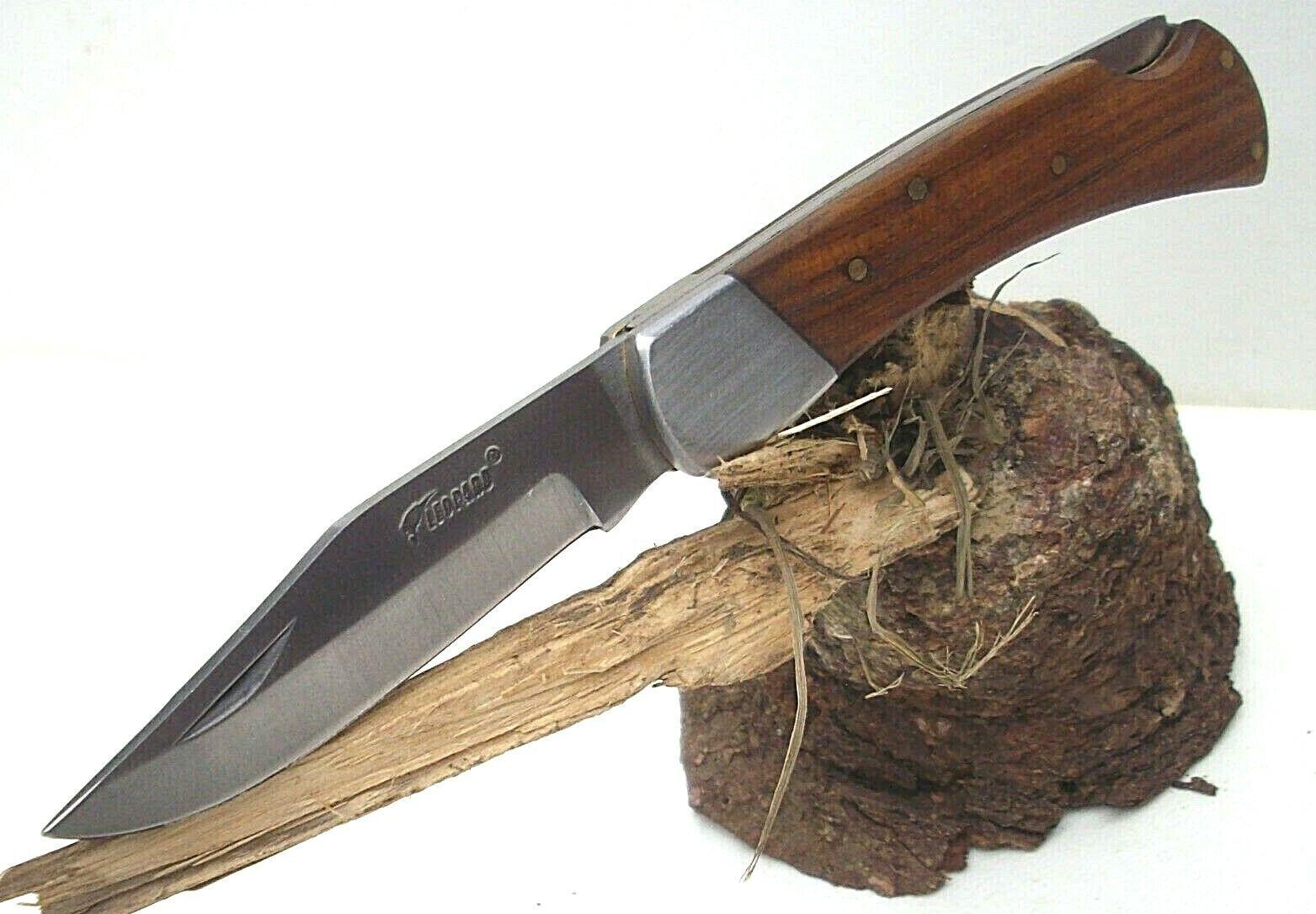 Taschenmesser Klappmesser Leopard Outdoormesser Holzgriff NEU!