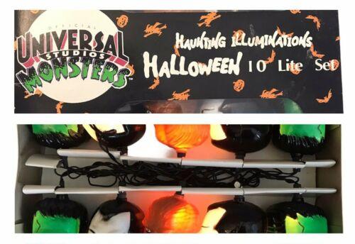 Halloween Monster Light Set Dracula Wolfman Frankenstein Universal Studios NIB