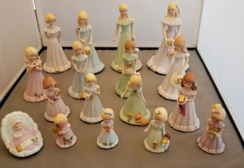 Enesco Growing Up Birthday Girl Mostly Blonde Set Baby 1 to 16 Vintage 80