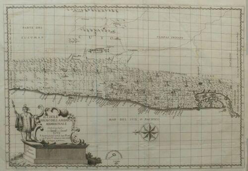 Chile Chili old map Molina Juan Ignacio 1776