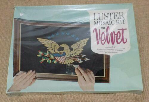 Vintage Mosaic Kit American Eagle Gravel Art Luster Glitter Craft Kit Velvet