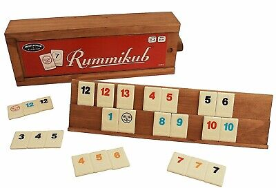 University Games Rummikub Tile Game with Wooden Case