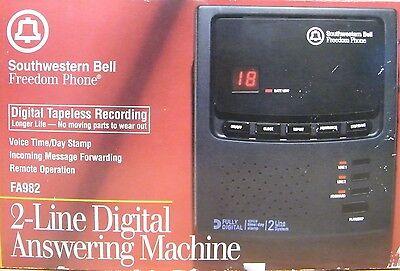 Southwestern Bell Freedom Phone (FA982) 2-Line Digital Answering Machine *NEW*