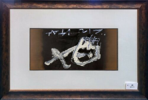 "Antoni Tapies ""crane Renverse"" 1986 