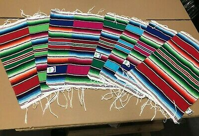 Mayo Table (8 PIECE SET MEXICAN SERAPE TABLE PLACE MAT , 19 X 13 , 5 DE MAYO , )