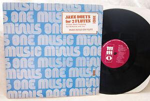 Music-Minus-One-Jazz-Duets-for-2-Flutes-Hal-McKusick-12-Vinyl-LP-MMO-4040-1977