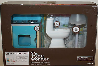 Play Wonder Doll House Stove, Toilet & Lamp- Light & Sound Furniture 3 pc NEW on Rummage