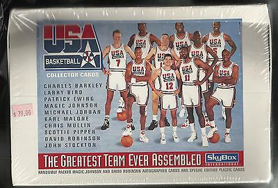 1992 Skybox Usa Basketball Box Greatest Team Ever Assembled Magic Johnson Auto?