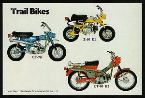 1970 HONDA TRAIL BIKES Z-50K1 CT-70 CT-90K2 SALES AD/ BROCHURE MINI TRAIL