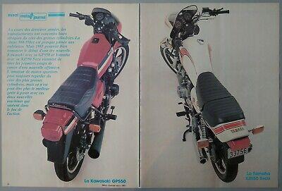1981 Vintage PAPER PRINT AD 2-pg KAWASAKI GP550 YAMAHA XJ550 SECA moto