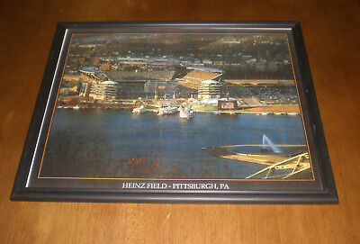 Pittsburgh Steelers Heinz Field Framed - PITTSBURGH STEELERS HEINZ FIELD FRAMED 11x14  PRINT