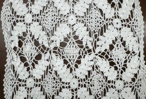 Antique BUNDLE BEAUTIFUL HUGE hand CROCHET table RUNNERS 50s or earlier PERFECT!