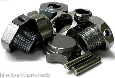 1/8 Escala RC Nitro Buggy 17mm Aleación Rueda Cubos Adaptador Tuerca Pin...
