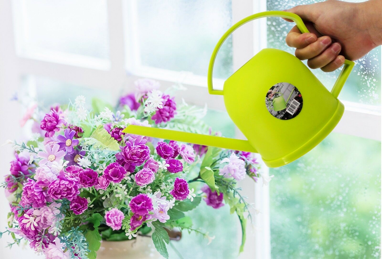 Uniware Flowers Watering Can,Green