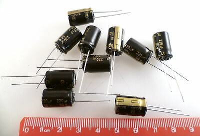 Panasonic Fm Eeufm1h221 Electrolytic Capacitor 220uf 50v 105c 10 Pieces Mbf020b