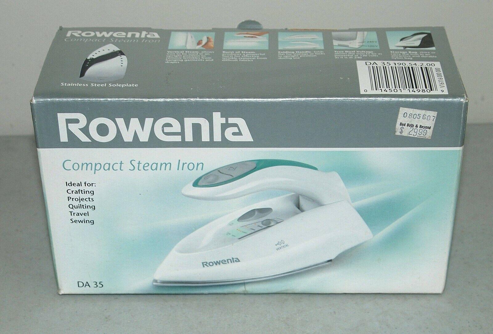 Rowenta DA-35 Latitude 35 Compact Iron with Dual Voltage for