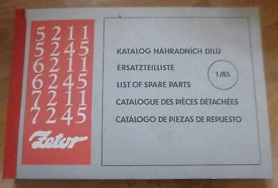 Zetor Schlepper 5211 + 5245 + 6211 + 6245 + 7211 + 7245 Ersatzteilliste, używany na sprzedaż  Wysyłka do Poland