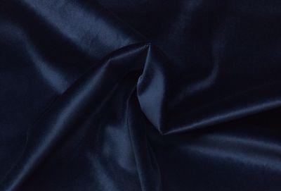 Ballard Designs Signature Velvet Ink Blue Furniture Cushion Fabric 5 Yards 56 W