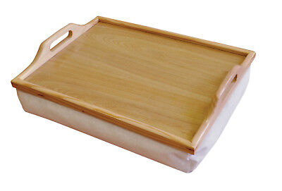 Aidapt Beige Wooden Cushioned Lap Serving Food Lightweight Aid Tray #938D
