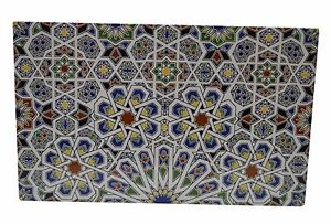 Moroccan Kitchen Tiles Ceramic Mexican Spanish Mediterranean Zellige Mosaic Art