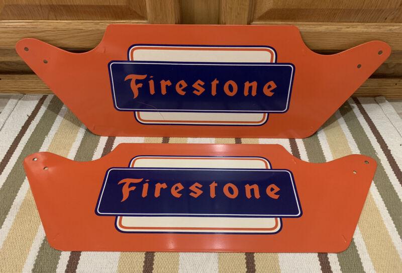 Vintage Firestone Tire Stand Gas Station Dealer Display Stand Sign Oil Decor