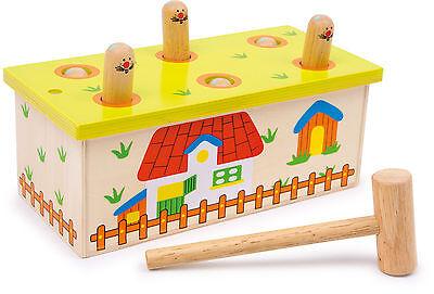 Klopfbank Hau den Wurm Klopfbank Hammer Holzspielzeug goki 2693