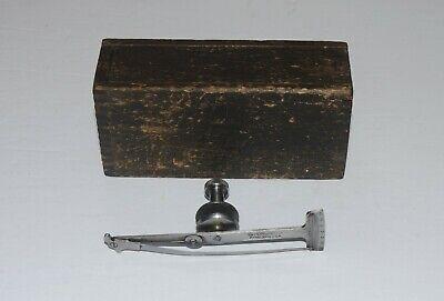 Vintage Starrett No. 64 Universal Test Indicator With Wood Box