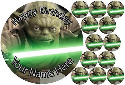 cupcakes Yoda Star War personal Rice paper,Icing fondant.60 (Yoda Cupcakes)