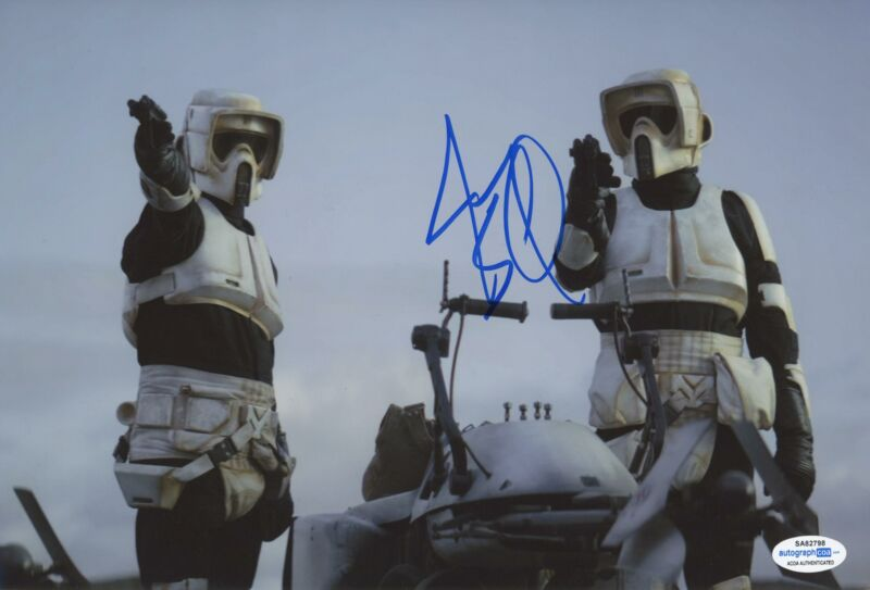 "Jason Sudeikis ""The Mandalorian"" AUTOGRAPH Signed 'Bike Scout' 8x12 Photo B ACOA"